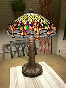 Style Drophead Dragonfly Table Lamp 25 High 18 Round Shade Decor
