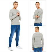 Threadbare Mens Bagel Neck Soft Knitted Long Sleeved Cotton Rich Sweater Top