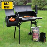 45 Outdoor Charcoal Pit Patio Backyard Meat Cooker Smoker Bbq Grill Garden Camp