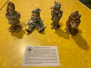 4 Ornaments Smithsonian Institution Wizard Of Oz New Open Box W/ Certificate