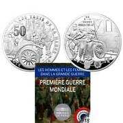 France Paris Men And Women In The Great War Taxi Marne 5oz Silver 2014