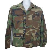 Us Army Military Camo Menand039s Long Sleeve Shirt Size Small Airborne