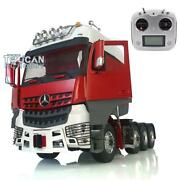 Lesu Rc 1/14 Metal Chassis Rack Hercules Cabin Actros Tractor Truck Radio Sound