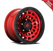 17x9 Fuel Wheels D632 Zephyr 6x139.70 Candy Red Black Ring Off Road -12 S43