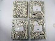 Pottery Barn Haylie Curtains Drapes Panels Cotton Lined 50x 84 Gray S/ 4 8654