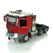 1/14 Lesu Rc Metal 66 Chassis Toolbox Light Hercules Painted Cab Tractor Truck