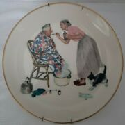 1978 Norman Rockwell Spring Spring Tonic Gorham China 10 3/4 With Wall Hanger