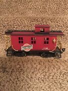 Vintage New Bright G Scale Chicago Northwestern R.r. Red Caboose