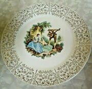 Vintage 1940and039s China Dand039or By Limoges -american Triumph 22k Gold Dinner Plate