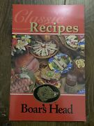 Vintage Classic Recipes Boar's Head Cookbook Cook Book Cooking
