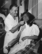 1629-024 Vicky Lane Sits In Jack Pierce's Makeup Chair For Horror Film The Jungl