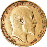 [882057] Coin Great Britain Edward Vii 1/2 Sovereign 1903 Ef Gold Km804