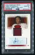 2004 Hot Prospects Larry Fitzgerald Rookie Patch Auto Red Hot Rpa /50 Psa 10