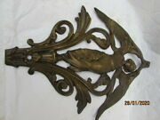 Antique Vintage French Pediment Ormolu Carved From The Xix