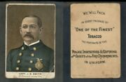 1888 N288 Buchner Police Inspectors Captains Fire Chiefs J.s Smith 3029