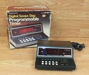 Vintage Micronta 63-887 Digital Seven Day Programmable Timer In Box Read