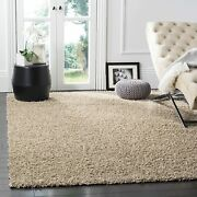 Safavieh Athens Shag Collection Sga119g 1.5-inch Thick Area Rug 8and039 X 10and039 Beige