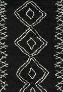 Momeni Rugs Maya Collection Ultra Thick Pile Shag Area Rug 5and0393 X 7and0396 Black