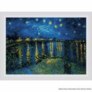 Riolis Counted Cross Stitch Kit Starry Night Over The Rhone After Van Goghand039s Pai