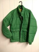 Vintage Swingster Farm Puffer Jacket Mix Mill Feed Ag Agriculture Mens Med Usa