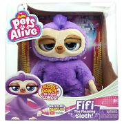 Zuru Pets Alive Fifi The Flossing Sloth Dances To Songs Interactive Animal Toy