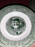 The Old Curiosity Shop Royal Dessert Berry Bowls China Green Set Of 4 Man Pipe