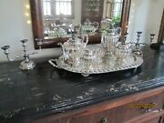 Sterling Sanborn's Of Mexico 5 Piece Tea Set Andtray W/ Pair Of 3 Light Candleabra