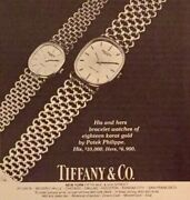 1983 And Co. Print Ad Patek Philippe His And Hers Bracelet Watches