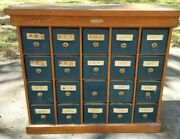 Antique 20 Drawer Apothecary Multi Drawer Cabinet Us.desk File And Cabinet Company
