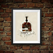 Woodford Reserve Premium Small Batch Bourbon Whiskey - Original Wall Art Decor