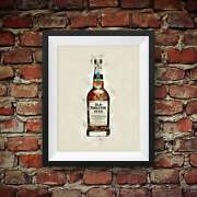 Old Forester 1920 Prohibition Style Bourbon Whiskey - Original Wall Art Decor