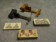 Antique Stereoscope Viewers And Stereoview Cards