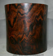 9.2 Old Chinese Dynasty Redwood Carving Office Decorate Brush Pot Pencil Vase