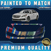 New Painted To Match Front Bumper Cover For 2015 2016 2017 Hyundai Sonata Sport