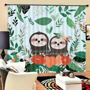 Lovely Hedgehog Lovers 3d Blockout Photo Print Curtain Fabric Curtains Window