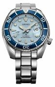 New Seiko Prospex Sumo Ice Blue Dial 200m Divers Menand039s Watch Spb179