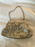 Vintage Whiting And Davis Cocktail Silver Mesh Clutch Coin Purse