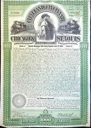 Chicago And St-louis Railway Compagny 5 Gold B1865 Avec Coupons