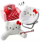 My Life As Hello Kitty Lounge Pillow, Saucer Chair And Fold Out Sofa For 18 Doll