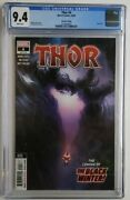 Thor 4 2nd Print Cgc 9.4 1st App Black Winter Cameo ✅ Donny Cates Knull Thanos