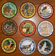 Ned Smith Cntr For Nature And Art Millersburg Pa Embroider Patch 9 Yr Set And03996-and03904