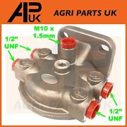 Fuel Filter Head Housing 1/2 For Ford 3600 3610 3910 4000 4100 Tractor