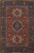 Antique Vegetable Dye Gharajeh Area Rug Traditional Hand-knotted Wool Carpet 4x6