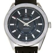 Oris Arts Gt Day Date 01 735 7751 4153 Stainless Steel S Gray Dial Menand039s [e1008]