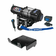 Winch Kit 3000 Lb For Yamaha Grizzly 660 4x4 2002-2008 Steel Cable