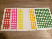 6480 Blank Garage Yard Sale Rummage Stickers Labels Price Tags 6 Colors Sale