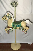 Vintage Wonder Horse Wh Painted Carousel Horse 66in Tall
