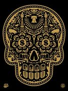 Day Of The Dead Skull Signed/numbered Screen Print Obey Shepard Fairey