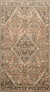 Antique Muted Geometric Vegetable Dye Traditional Area Rug Hand-knotted Wool 4x7