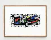 Exceptional Joan Miro Lithograph, Listed Mid Century Modern Not Hand Signed 60s